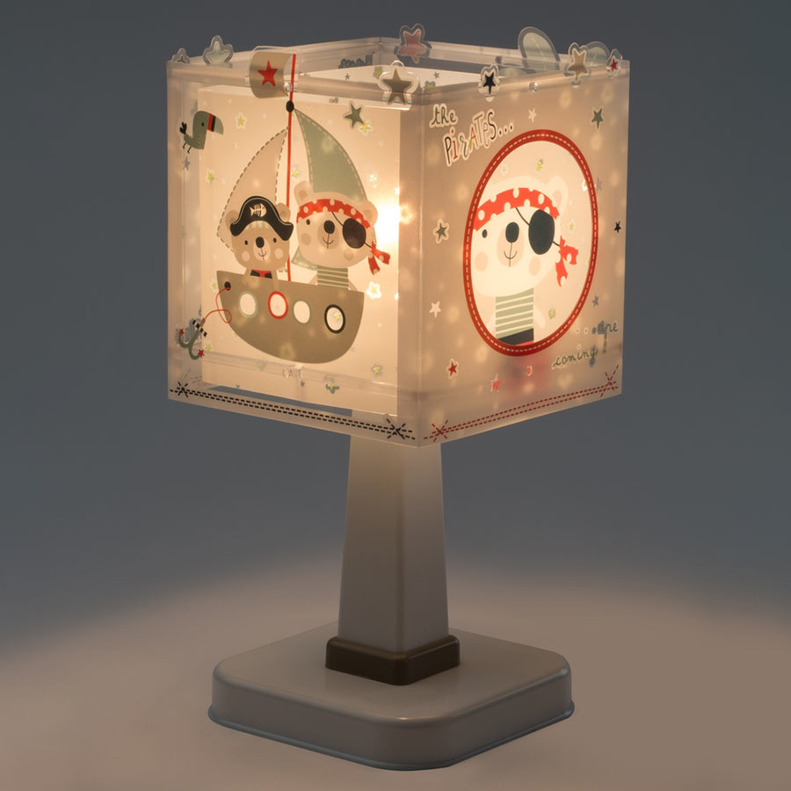 Pirates - eckige Kinderzimmer-Tischlampe