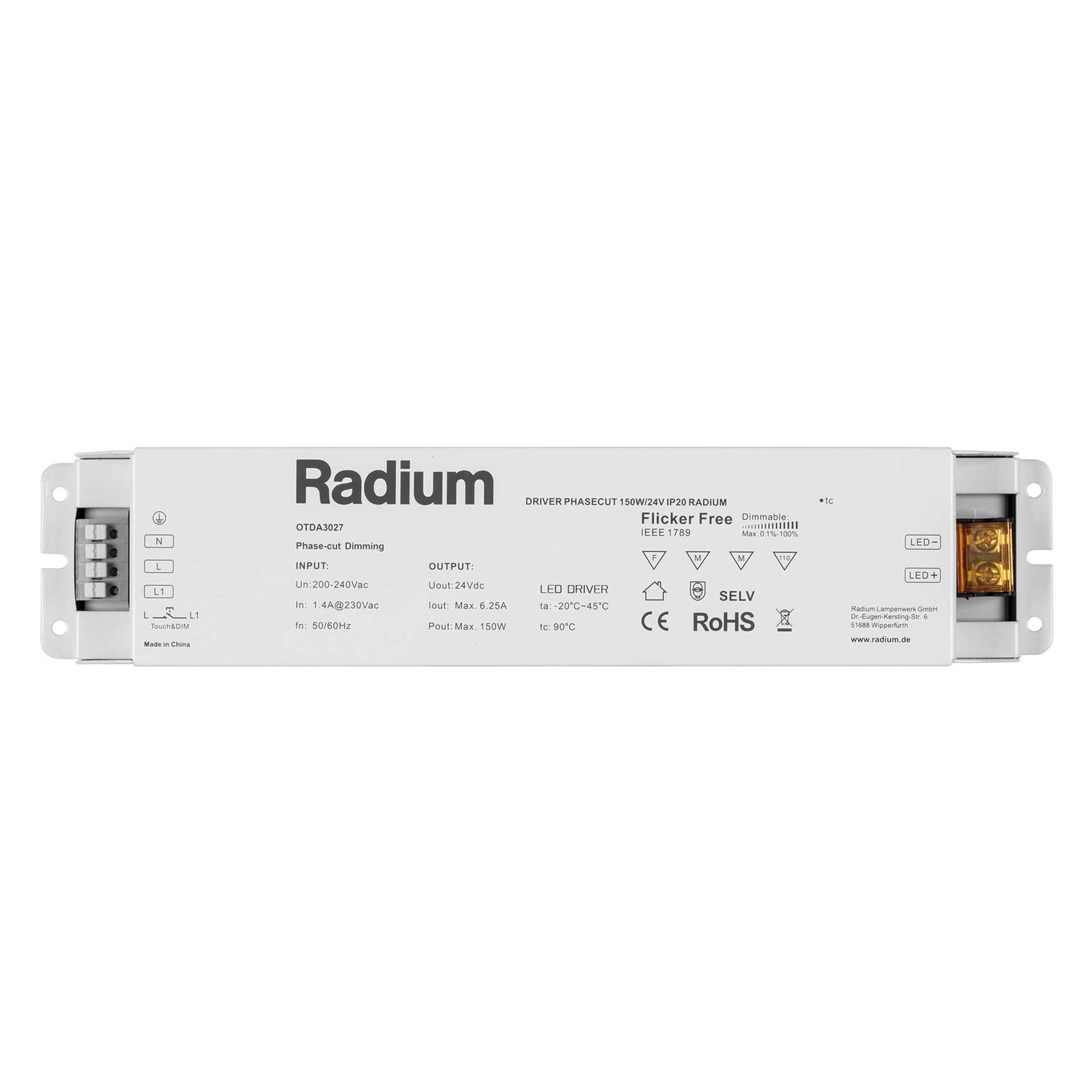 LED-Netzteil Radium OTDA 24V-DC, 150 W