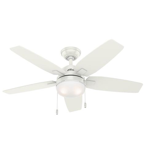 Hunter Arcot ventilator m. licht, wit/grijs