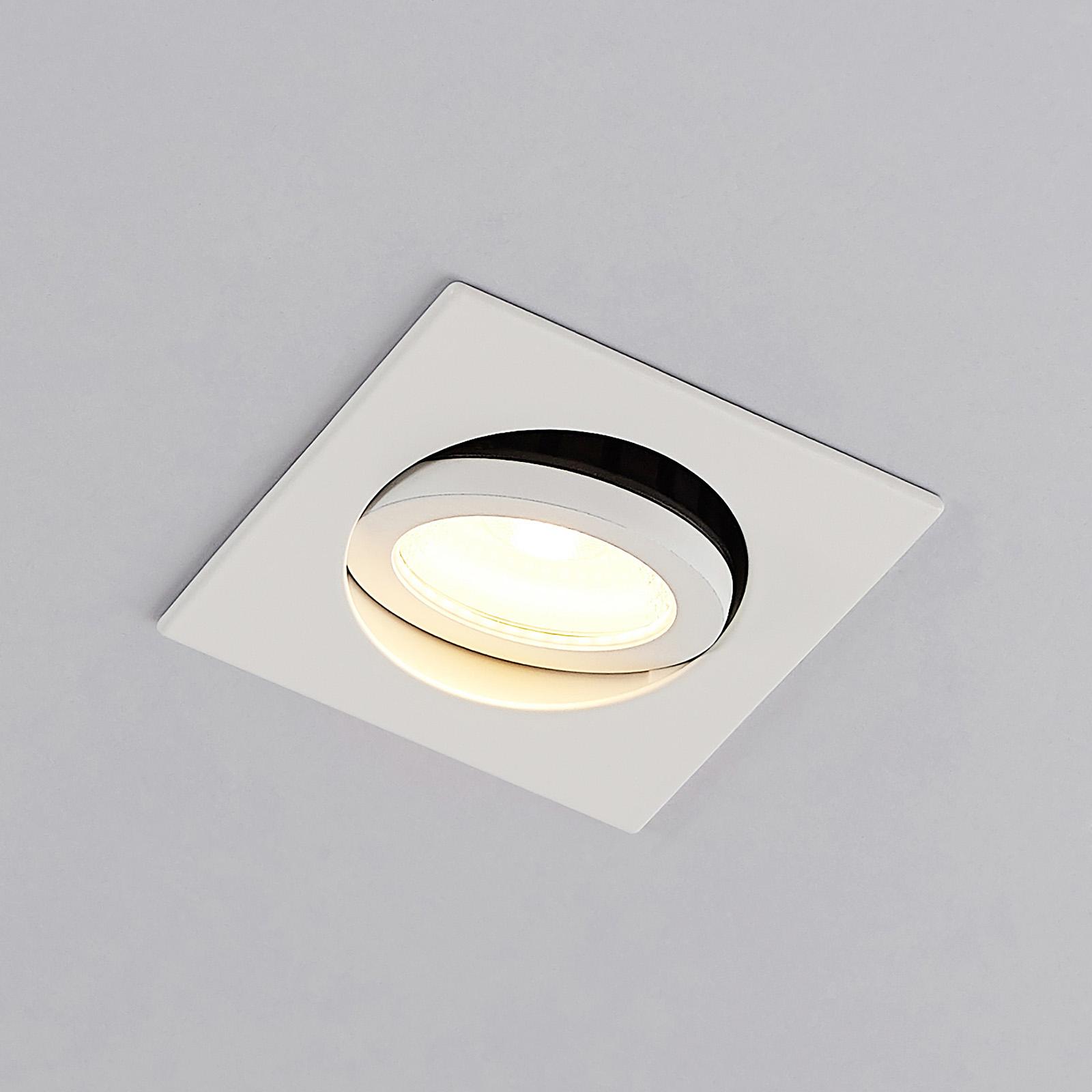 Arcchio Dacio LED-Downlight eckig 36° IP65, 4W