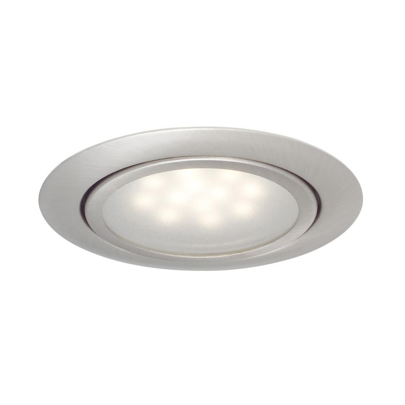 Spot LED Skinne set da 3, ferro spazzolato