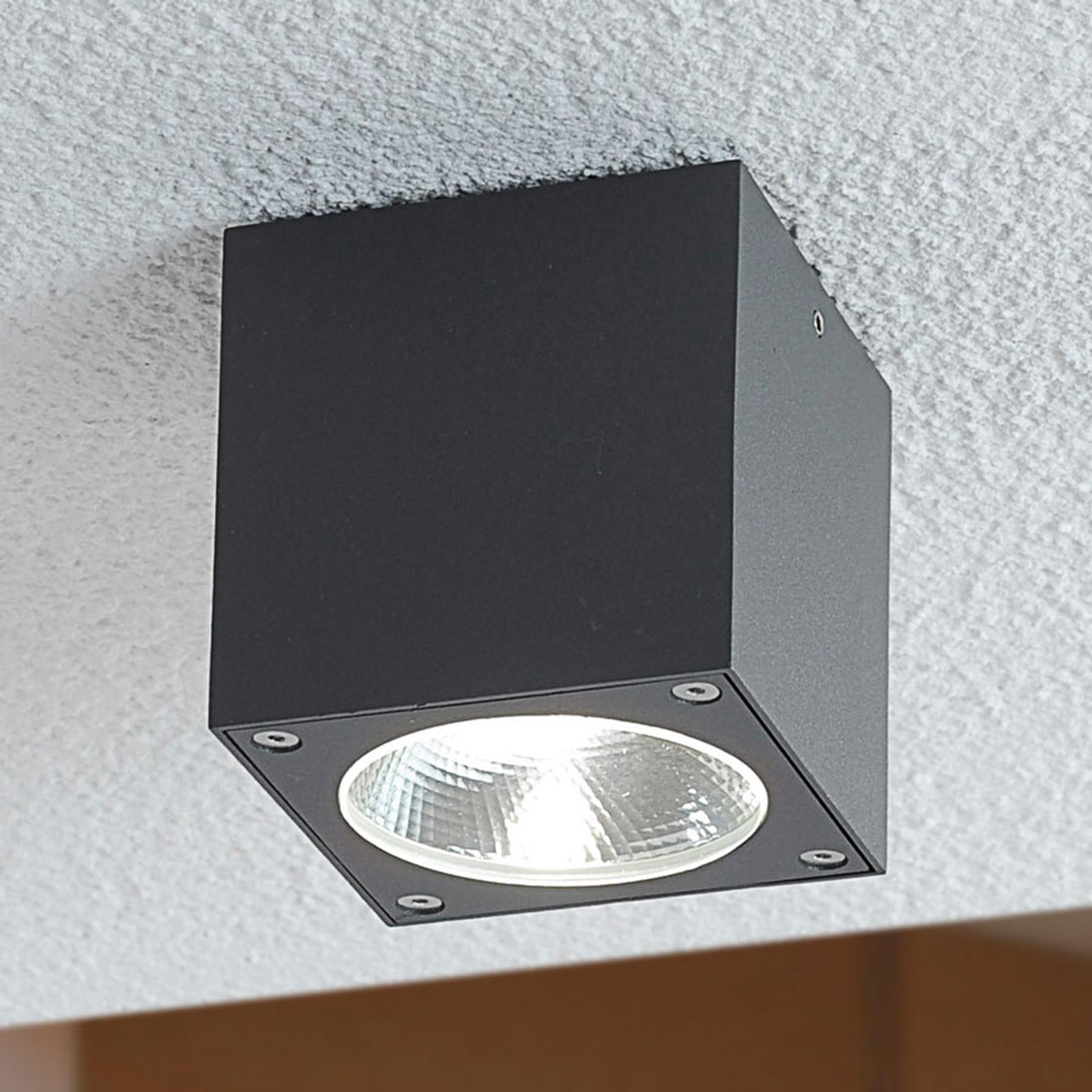 Lukas - terningeformet LED-udendørsloftslampe