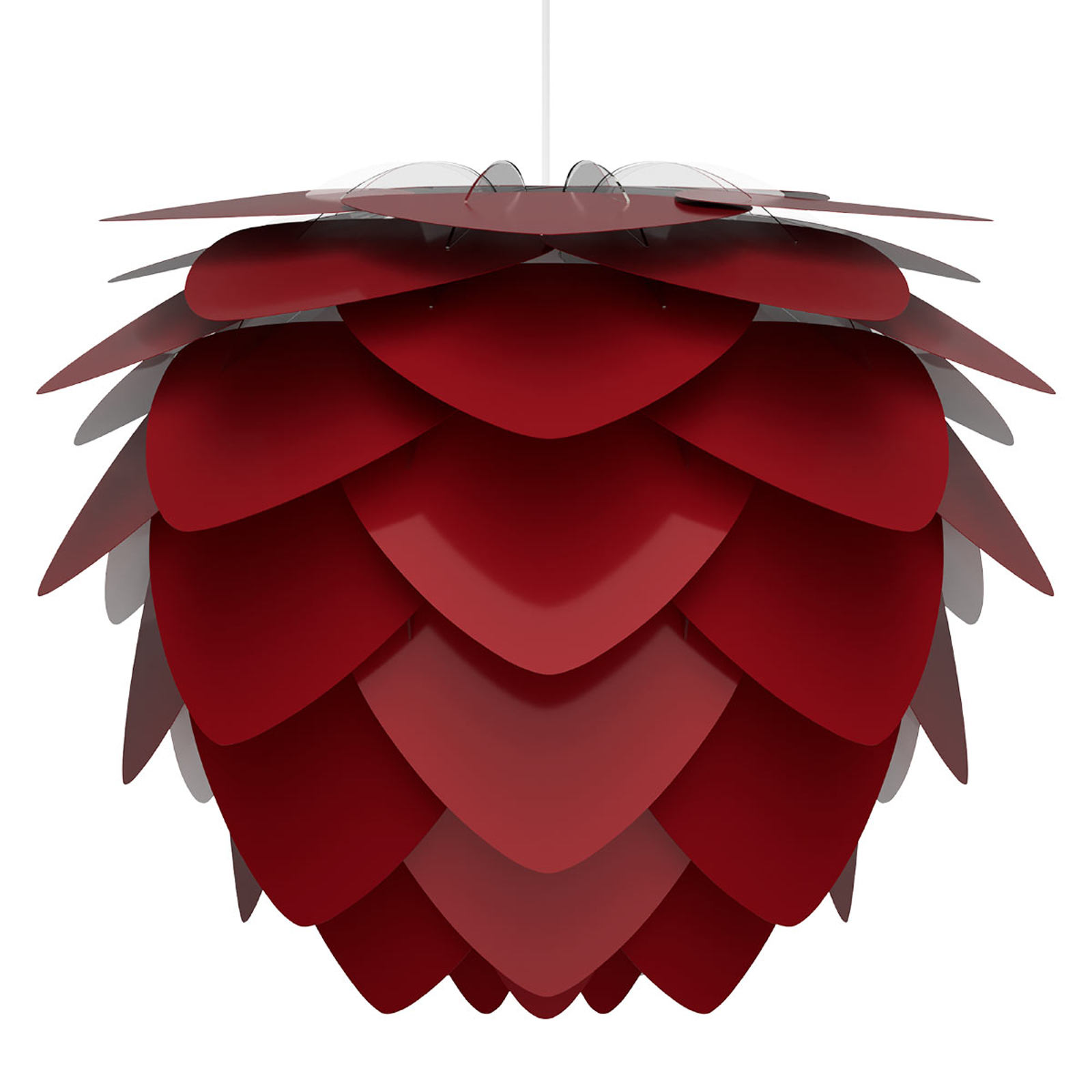 UMAGE Aluvia medium lámpara colgante, rojo rubí