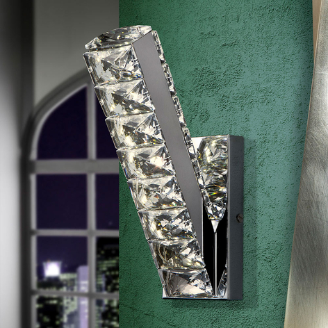 LED-Wandlampe Diva mit Kristallen