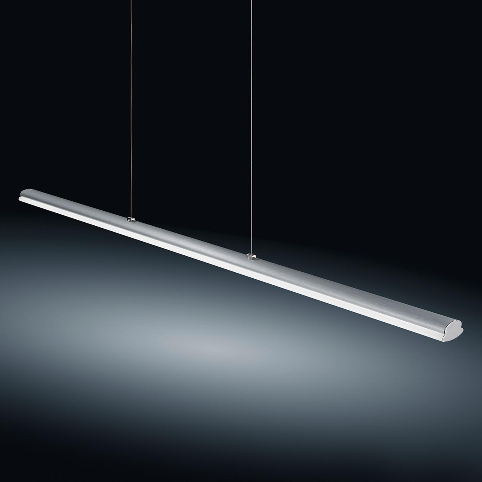 Lampa wisząca LED VENTA, nikiel mat, 116,5 cm, 22W