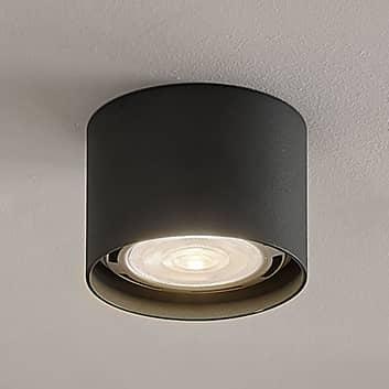 LED-loftspot Mabel, rund, mørkegrå