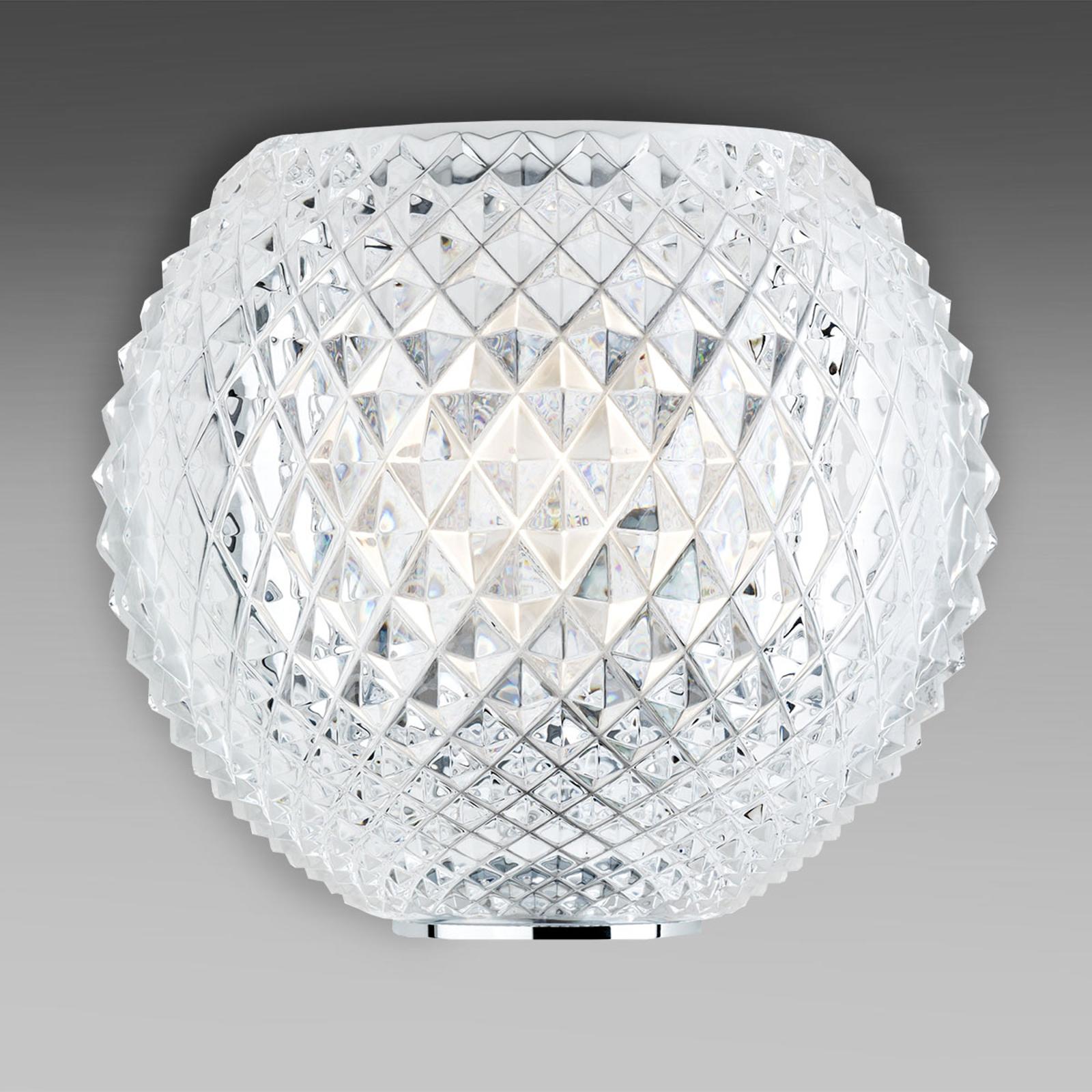 Mönstrad kristallvägglampa Diamond and Swirl