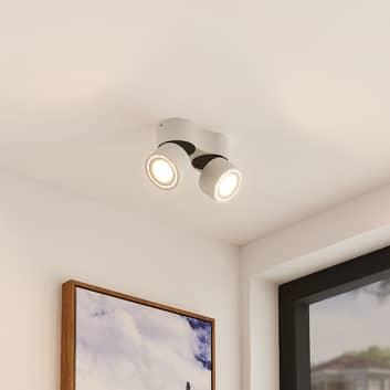 Arcchio Rotari foco de techo LED, 2 luces, blanco