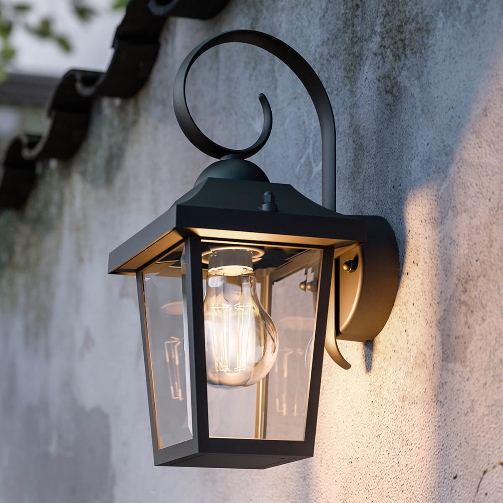 Buzzard myGarden - sort udendørs væglampe