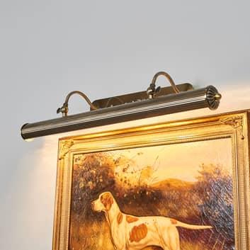 Lampada lineare da quadri Joely, ottone anticato