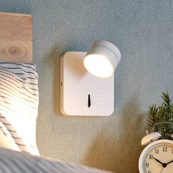 Lámpara de pared LED Vidda blanca, con interruptor