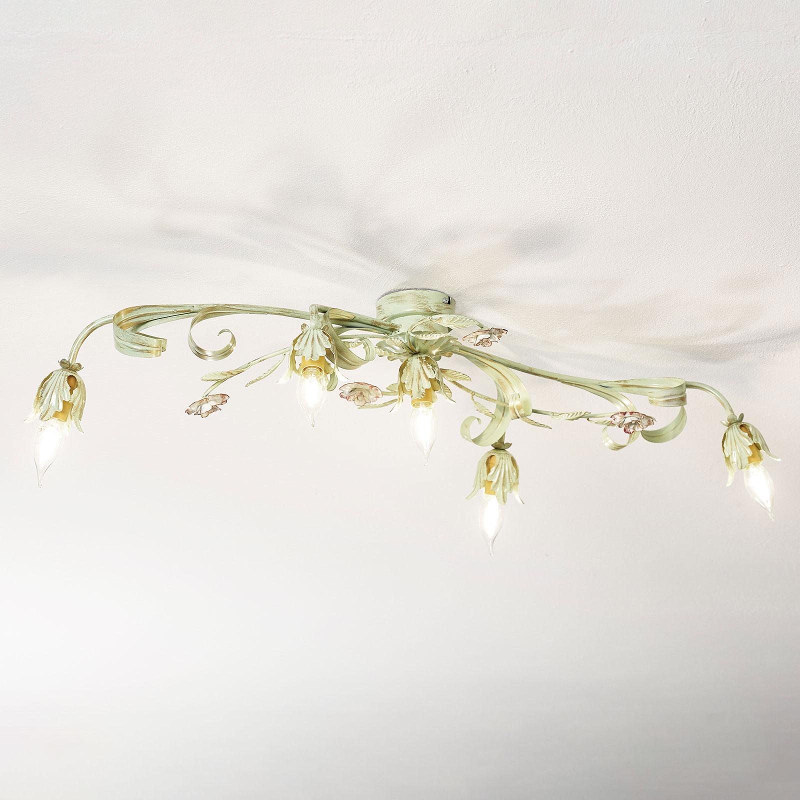Florentinsk taklampe Tulipe, 5 lyskilder