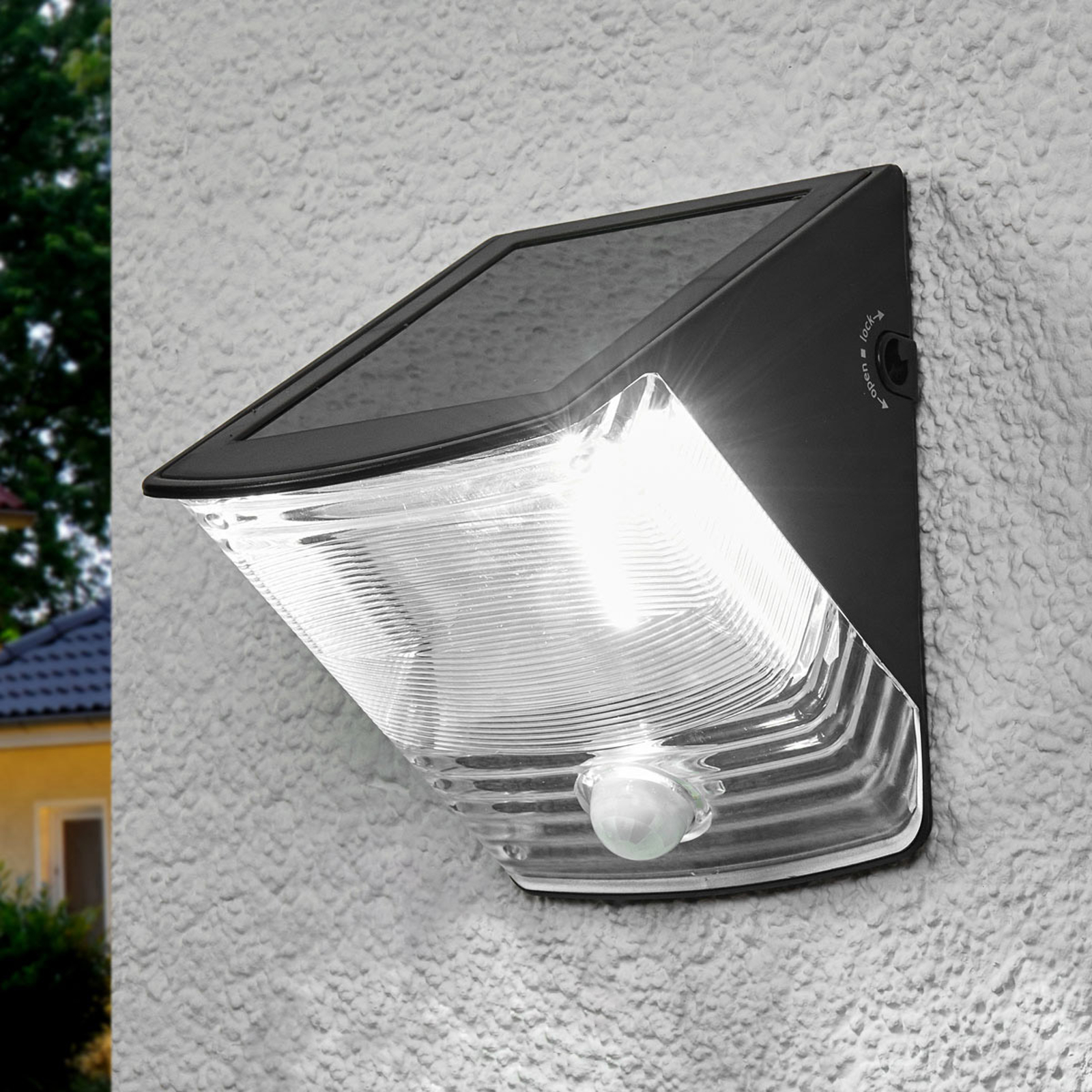 SOL 04 solar LED Wall light with IP44, black_1540166_1
