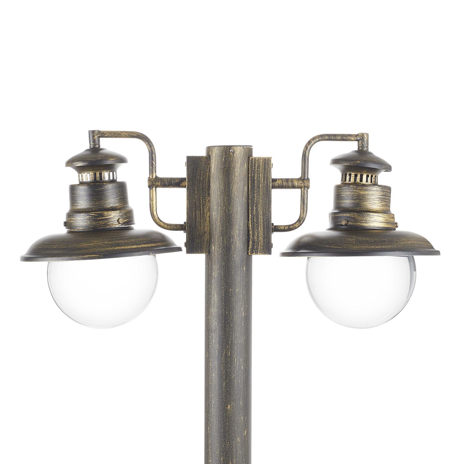 Artu - 2-punktowa latarnia ogrodowa, czarna/złota