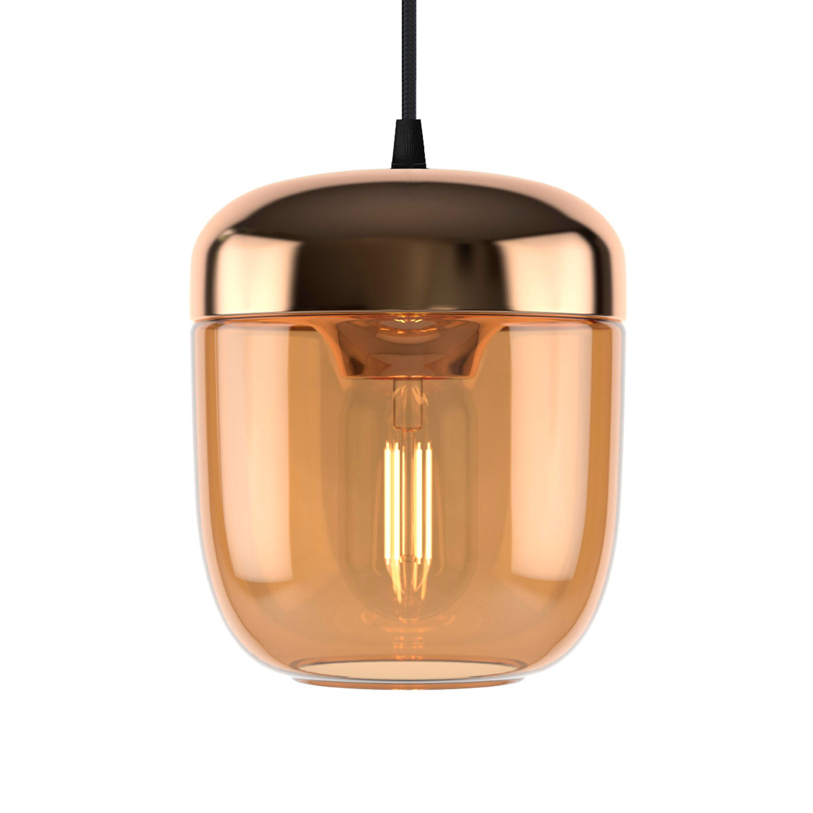 UMAGE Acorn hængelampe 1 lyskilde rav messing