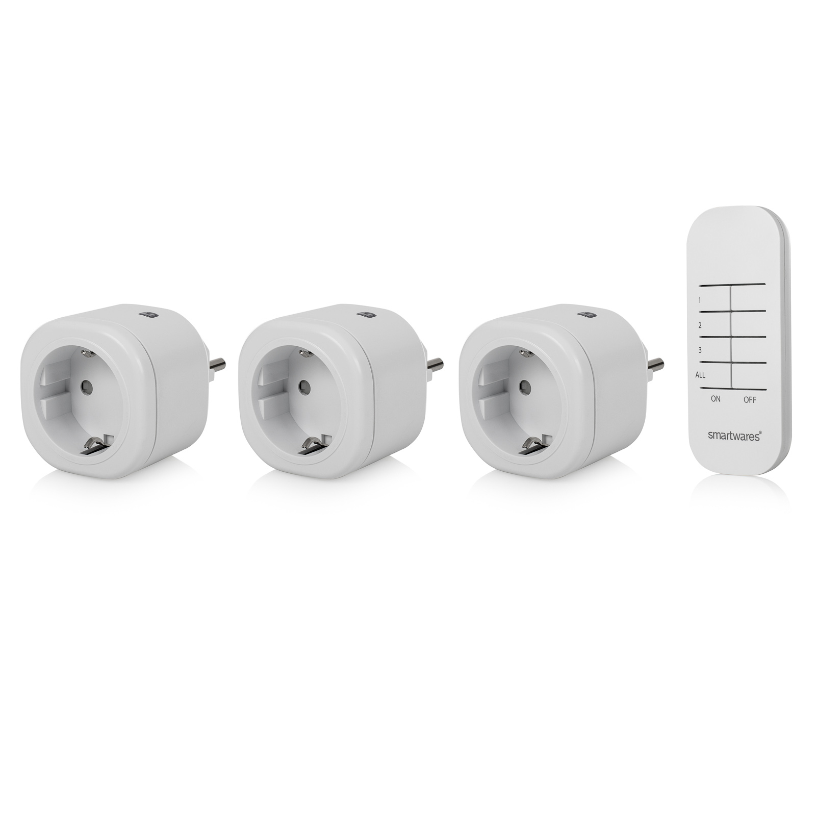 3er Mini-Funksteckdosen-Set SH4-99566 Innenbereich