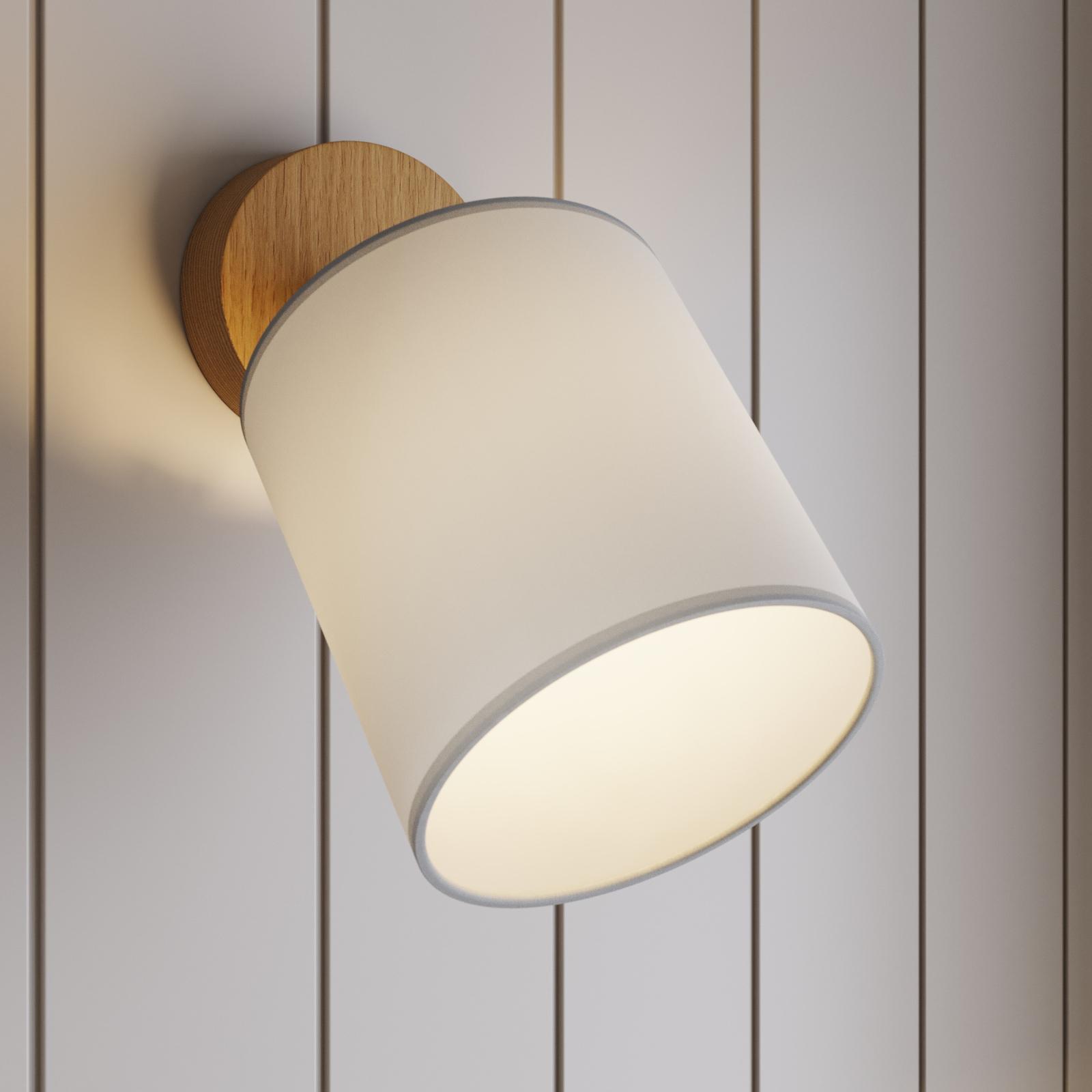 Faretto da parete Corralee, bianco, 1 luce