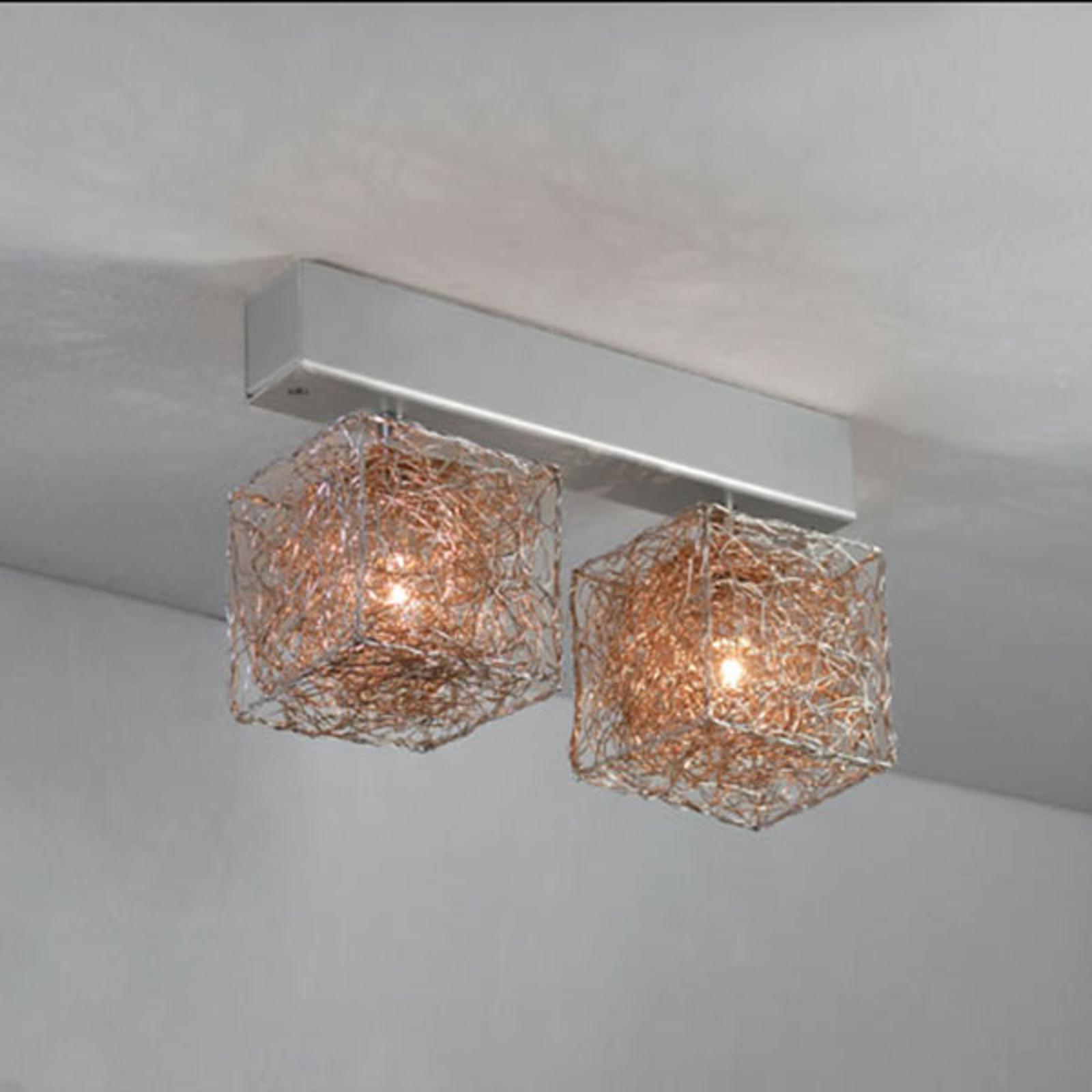 2-punktowa designerska lampa sufitowa LED Kubini