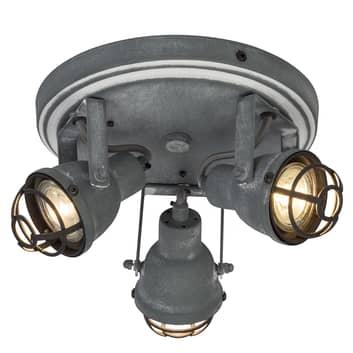 Lámpara colgante Bente diseño industrial 3 brazos
