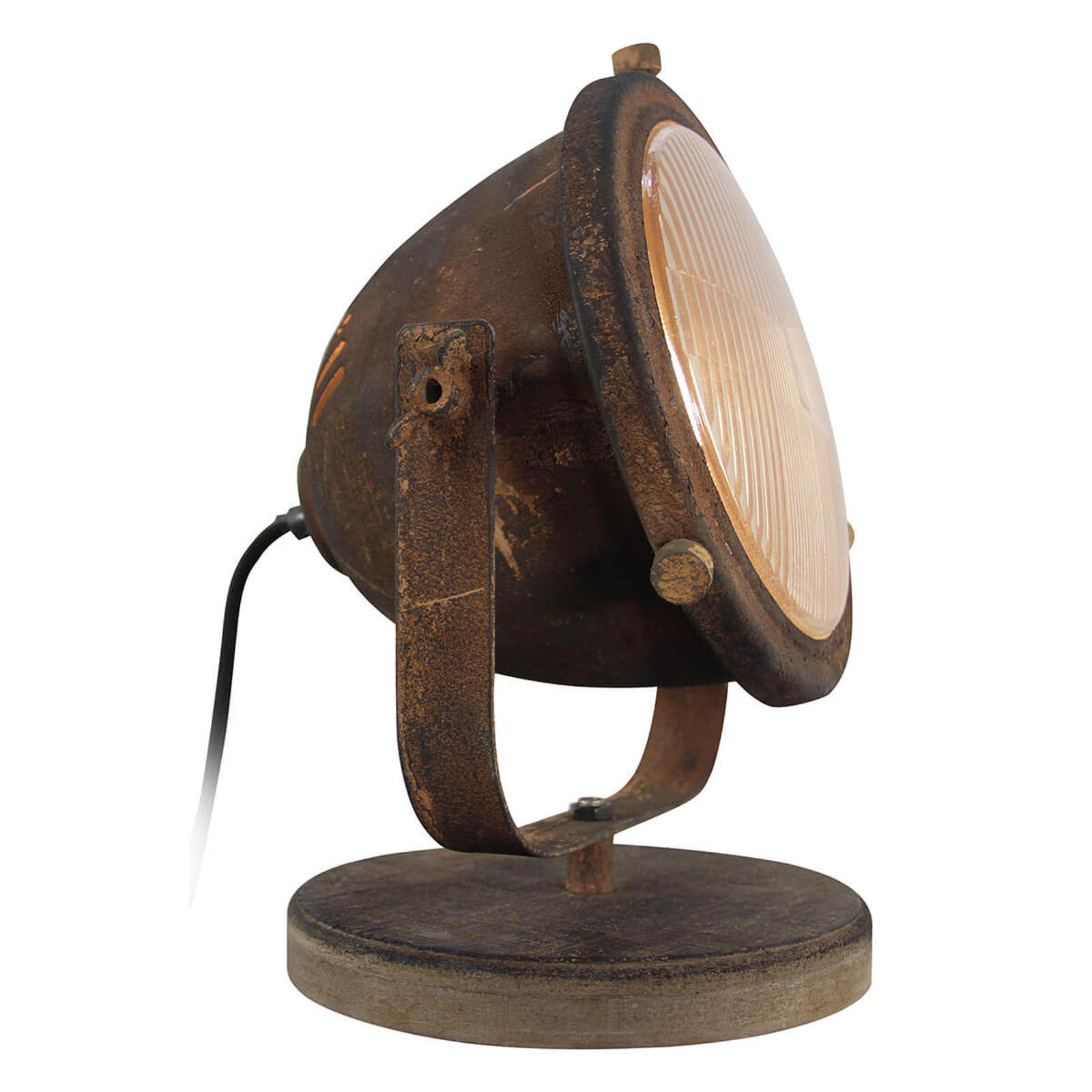 Tafellamp Carmen industriestijl, roestkleurig