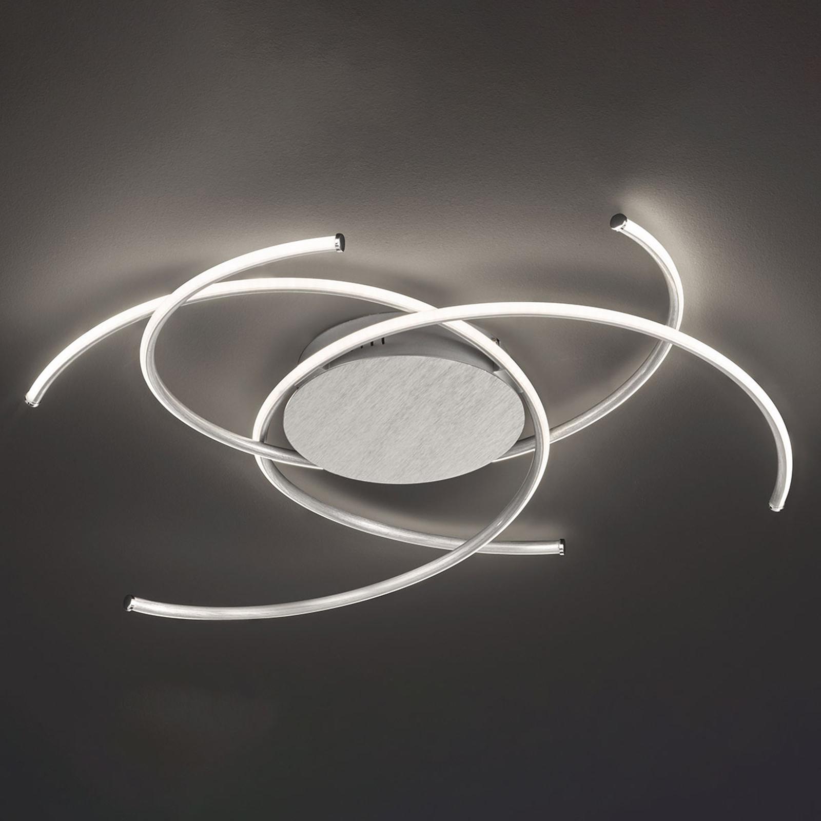 LED-Deckenleuchte Juls, Aluminium gebürstet