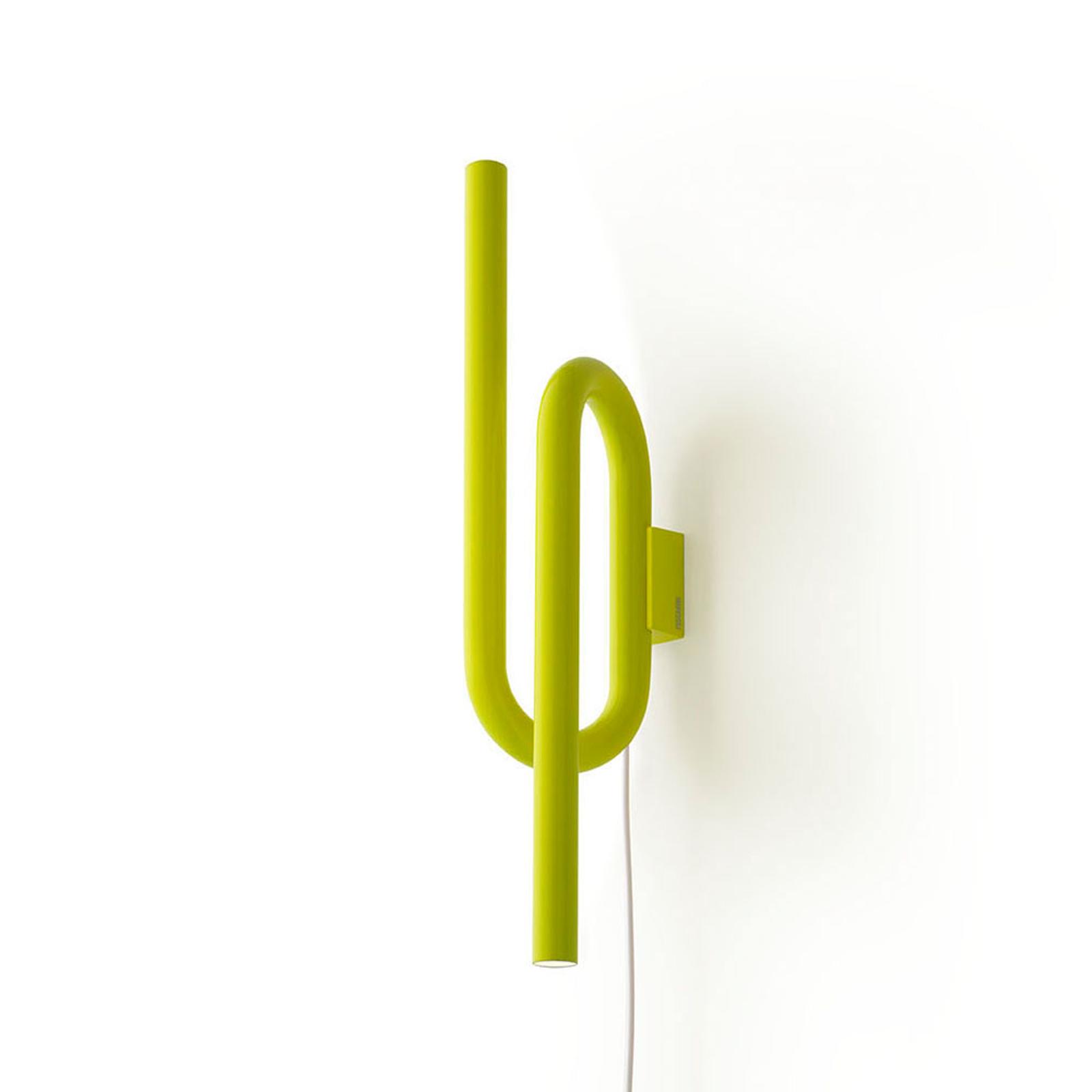 Foscarini Tobia -LED-seinävalaisin keltainen johto