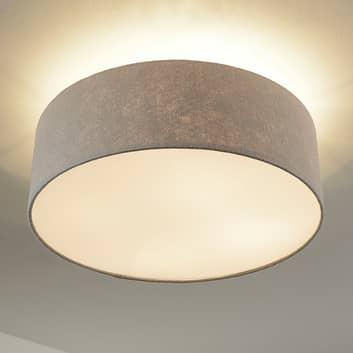 Stropní světlo Gala, 50 cm, plstěné stínidlo šedé