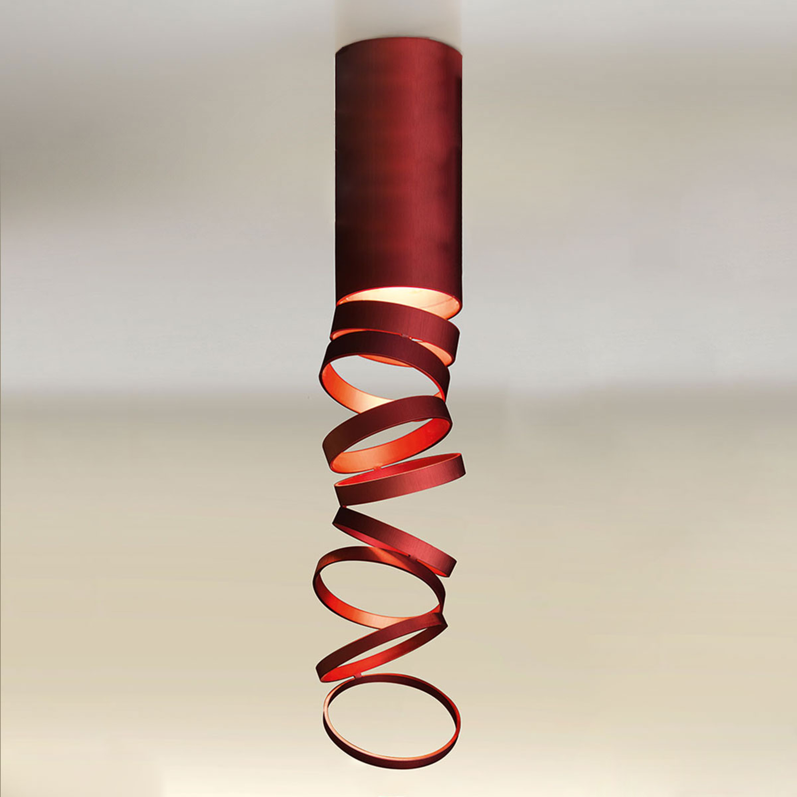 Artemide Decomposé stropní světlo červené