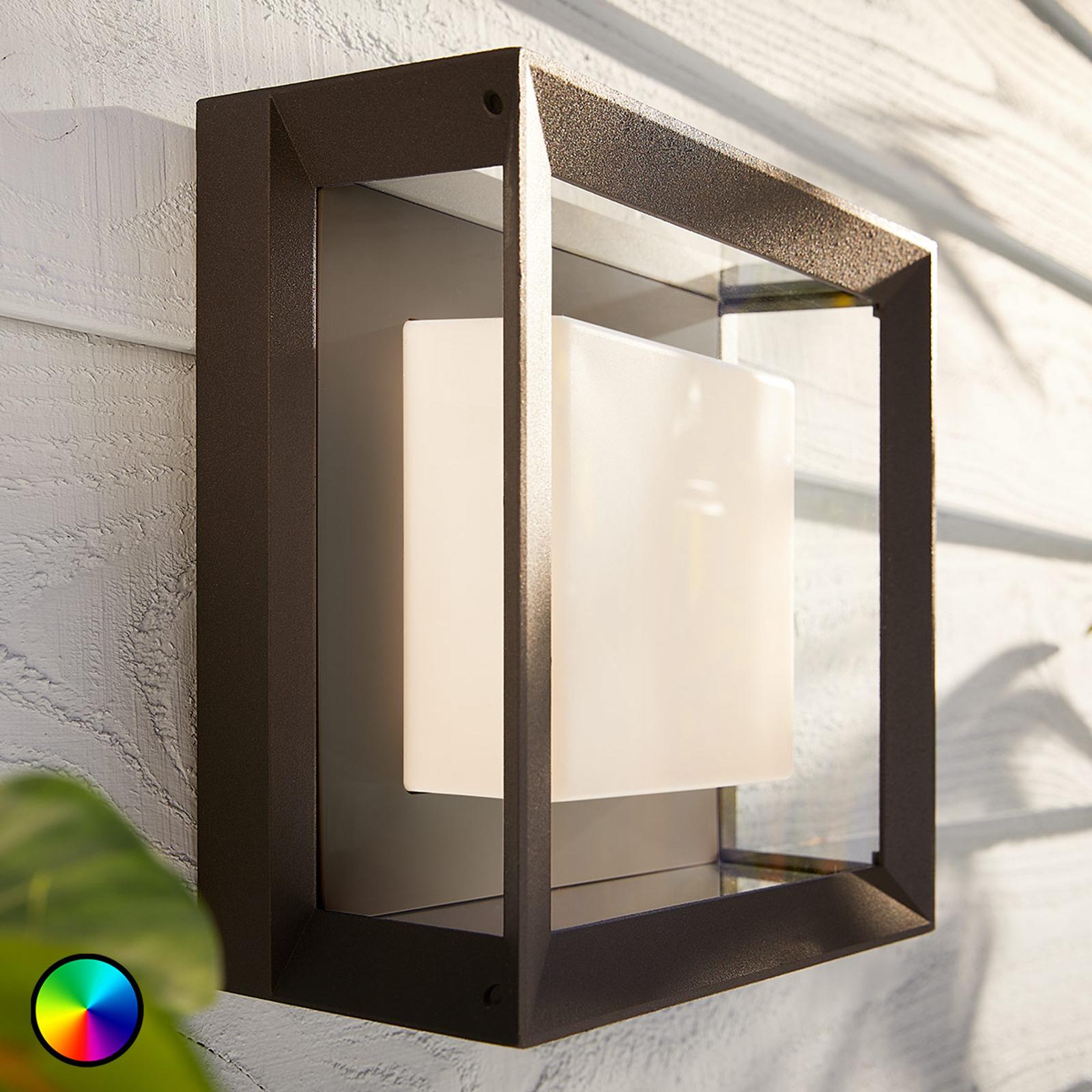 Philips Hue White+Color Econic væglampe, firkantet