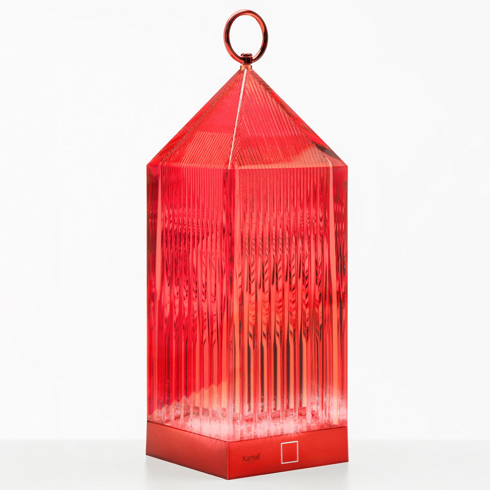 Kartell Lantern LED-Tischleuchte, rot IP54