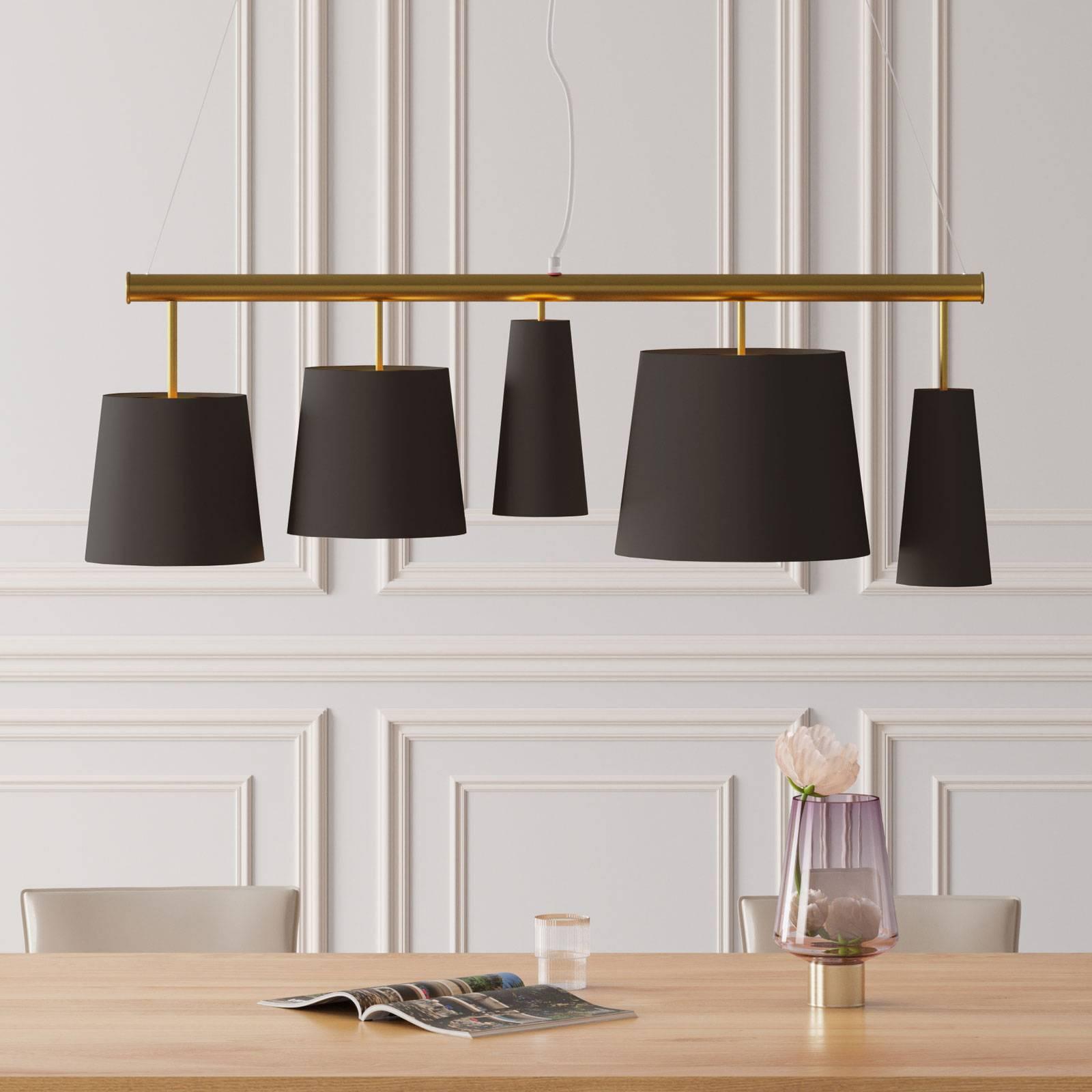KARE Parecchi suspension black brass à 5 lampes