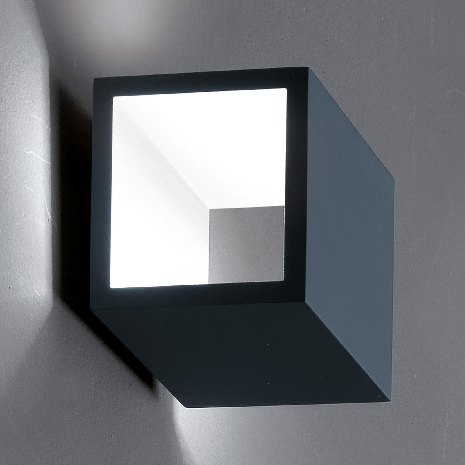 ICONE Cubò LED plafondlamp, 10 W, titanium/wit