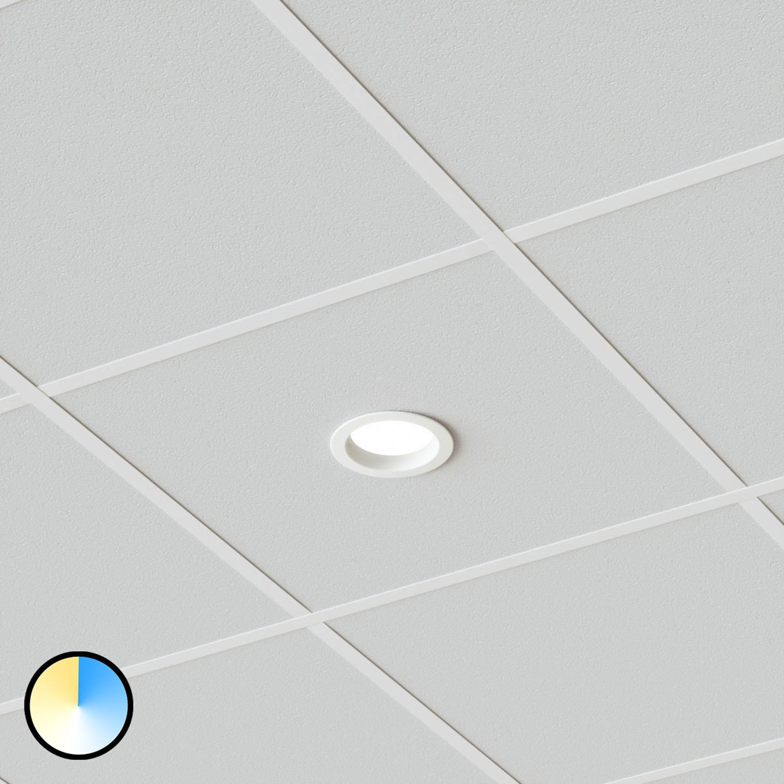 Spot encastrable LED Piet, 12 W couleur réglable