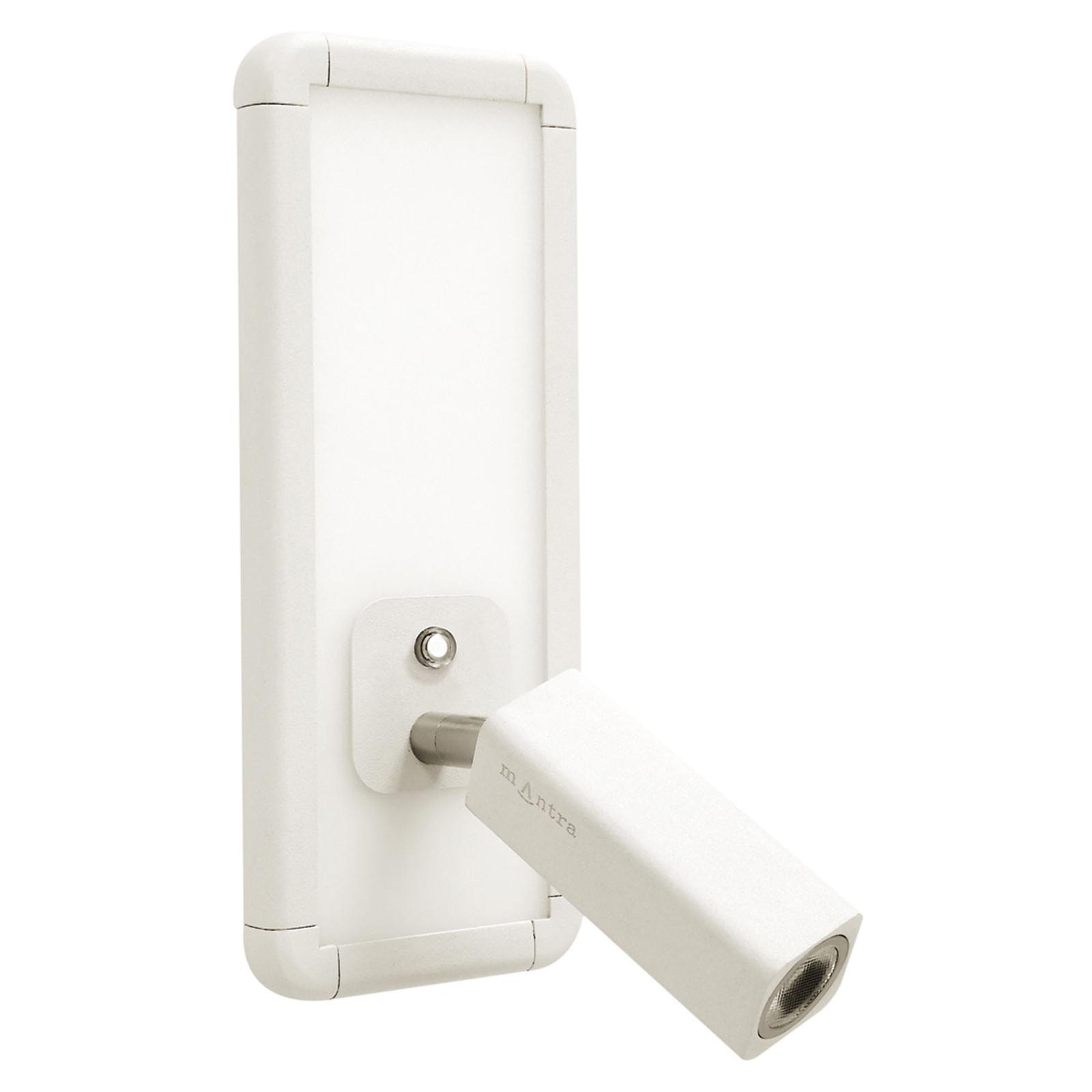 LED wandlamp Ibiza met leesarm, wit