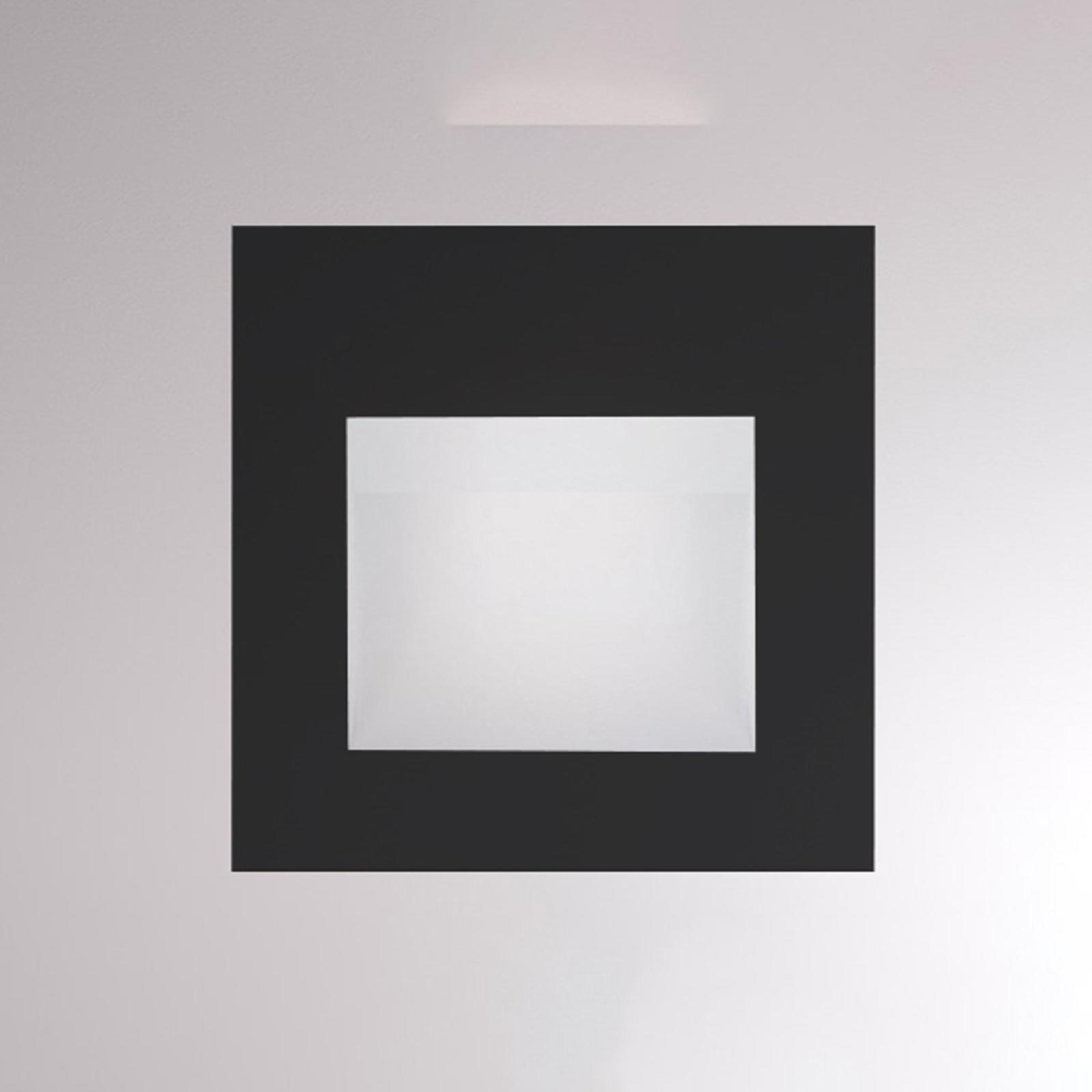 LED-Wandeinbauleuchte Pan, schwarz