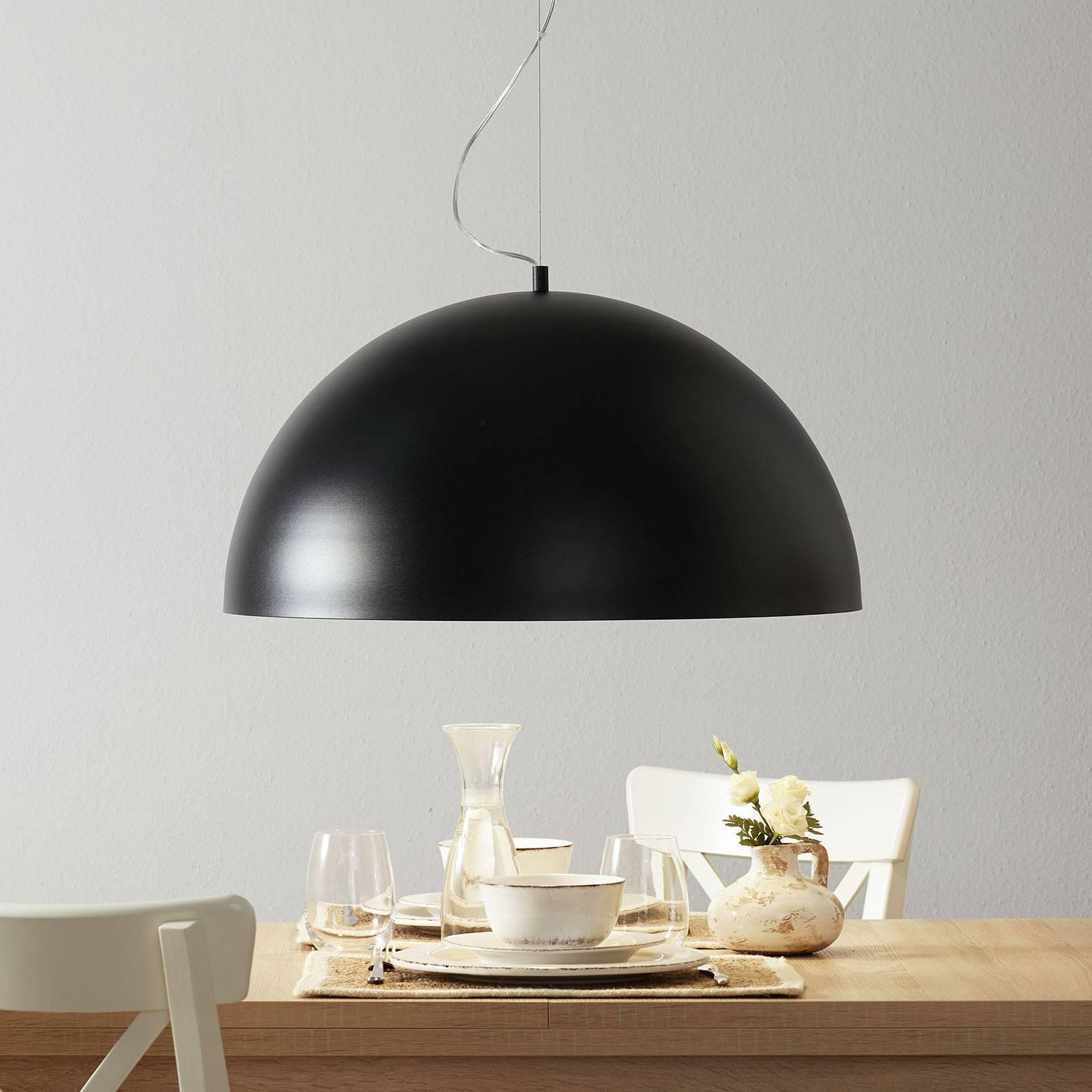 Lucande Maleo hanglamp 65cm zwart