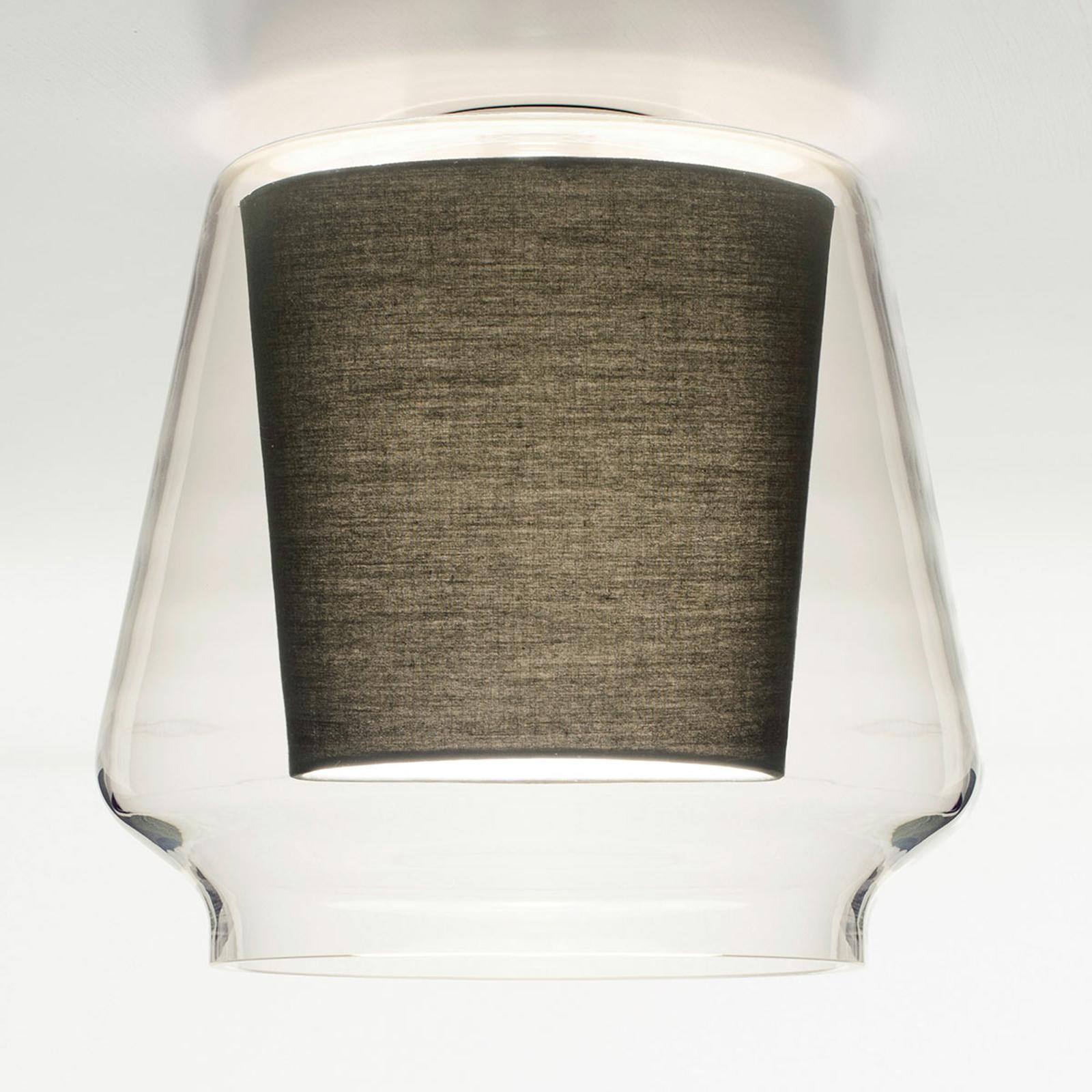 Casablanca Aleve plafonnier transparent anthracite