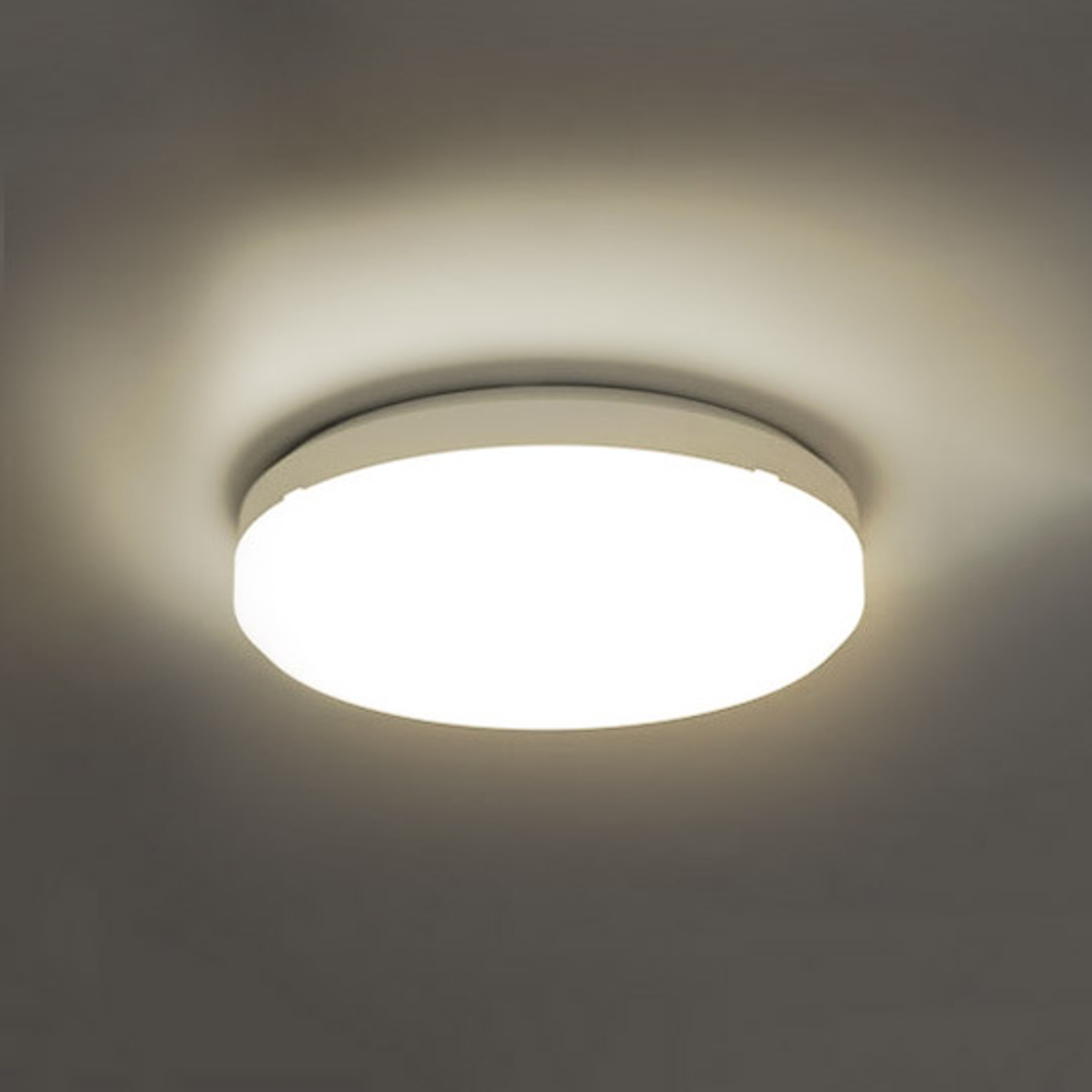 SUN 15 LED-taklampe, IP65, 18 W, 3000 K, varmhvitt