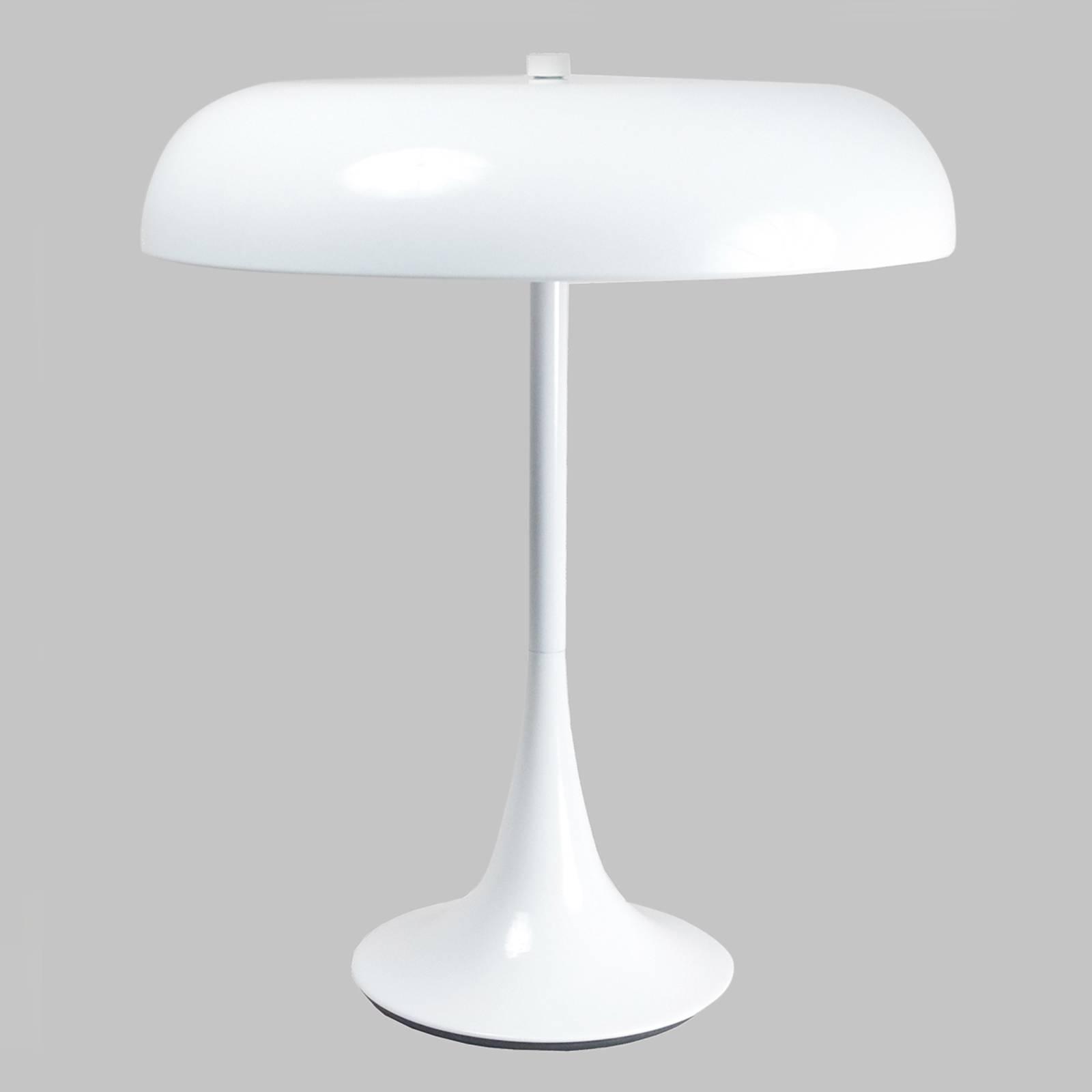 Weiß lackierte Tischleuchte Madison