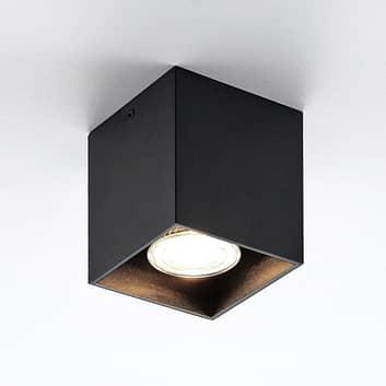 ELC Efey taklampe, GU10, kantet, svart