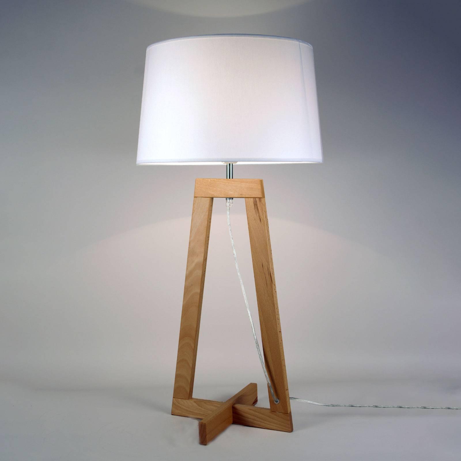Tafellamp Sacha LT van textiel en hout