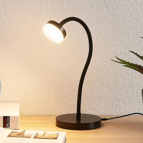 Lindby Dariel LED stolní lampa, černá