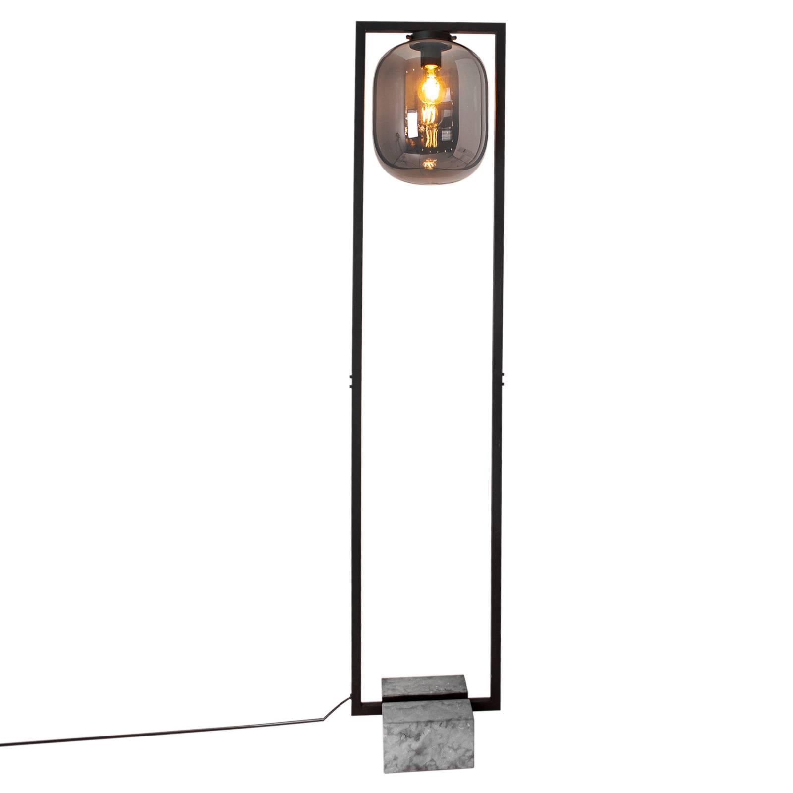 By Rydéns Dixton lampadaire 150cm verre fumé