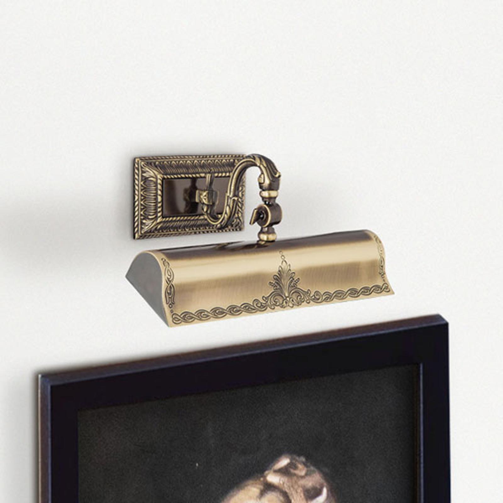 Tavelbelysning Capitel guld bronserad, 31 cm