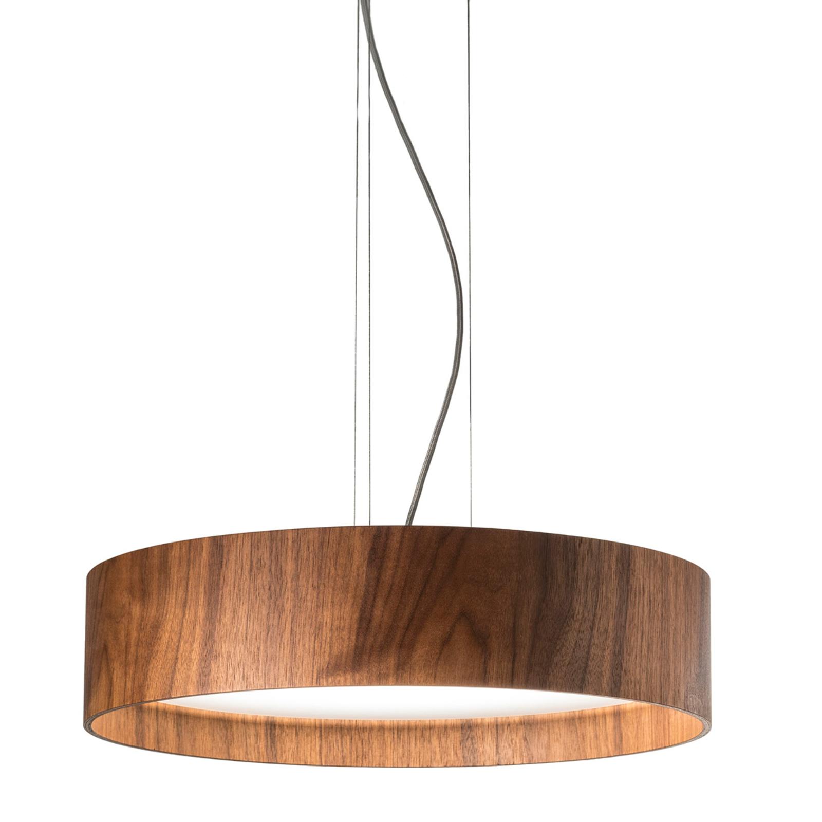 Nussbaum-Hängeleuchte Lara Wood mit LEDs