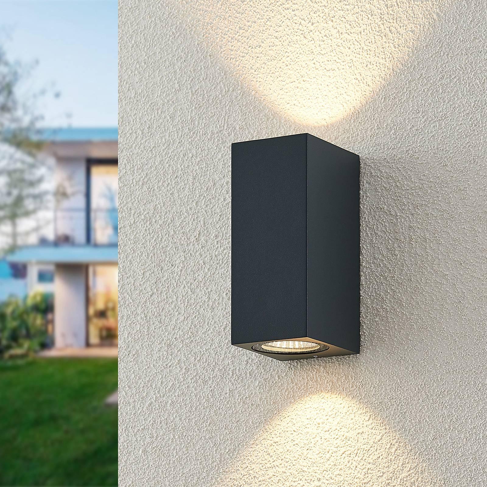 ELC Lanso LED-Außenwandleuchte, anthrazit