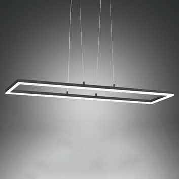 LED závěsné světlo Bard, 92x32 cm, antracit