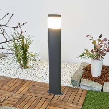 Dunkelgraue LED-Wegeleuchte Marius