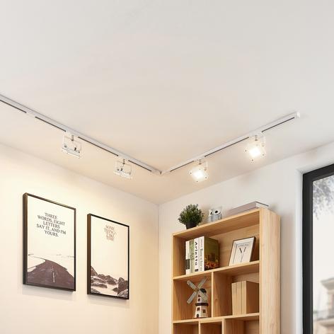 Sistema de riel LED Linsey, 1 fase, 4 luces blanco