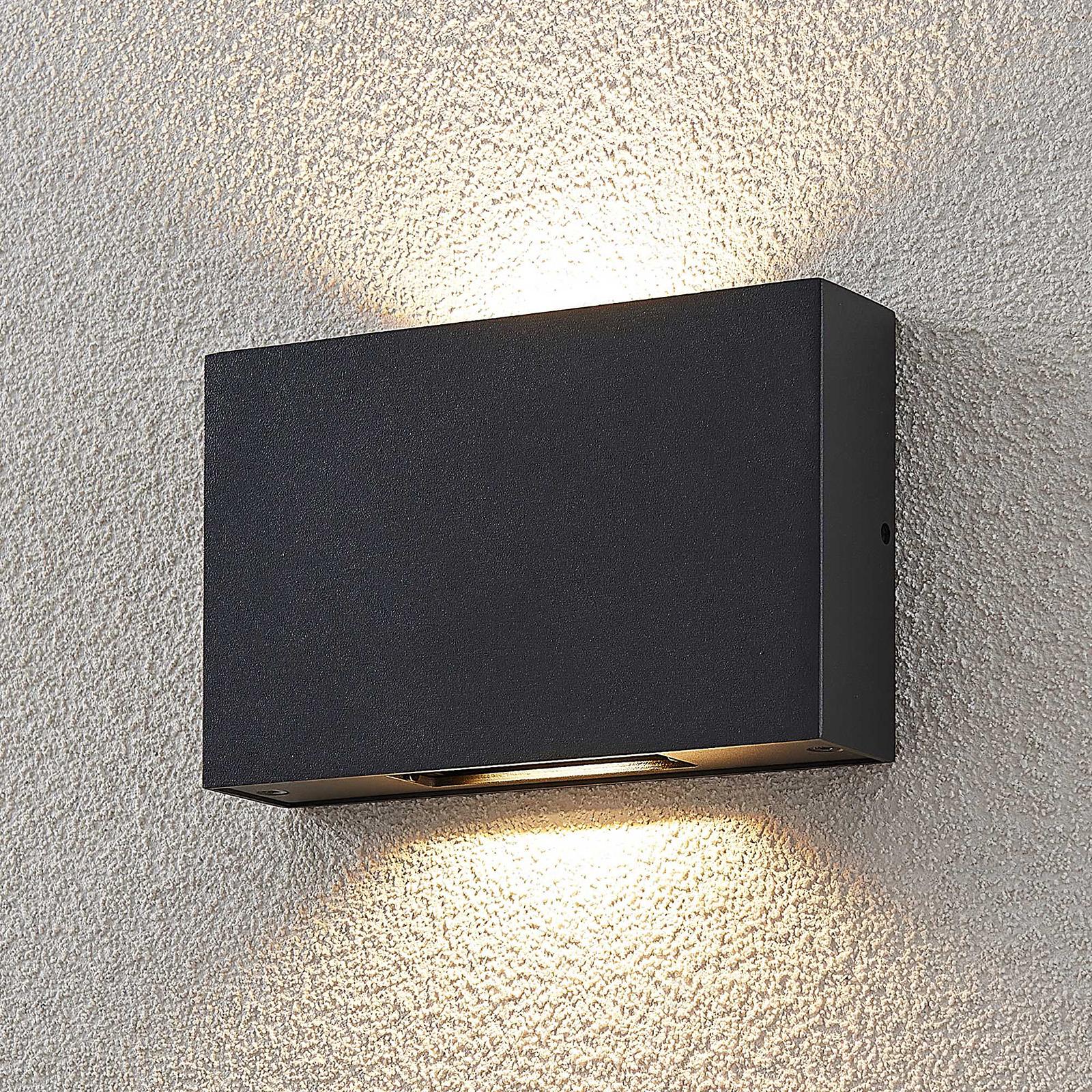 LED-Außenwandleuchte Isalie in Dunkelgrau
